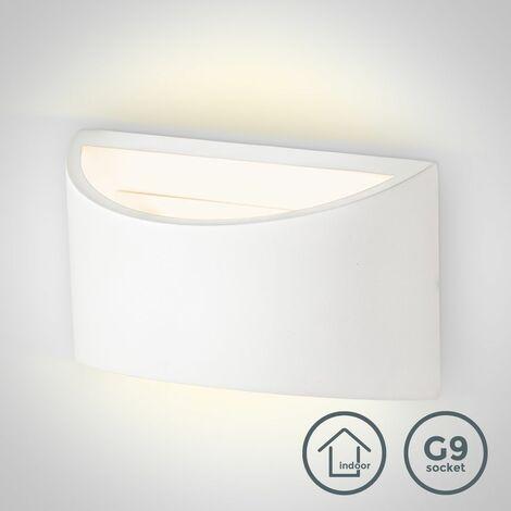 B.K.Licht - Lámpara de pared LED para interiores y exteriores de luz blanca neutral, con índice de protección IP44, 7 W, 600 lúmenes, 4000K, color blanco