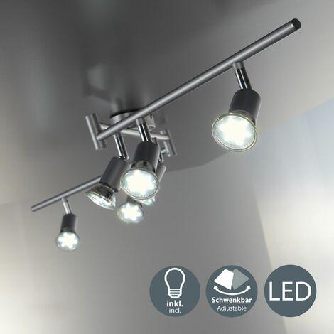 """main image of """"B.K.Licht - Lámpara de techo con 6 focos LED GU10, focos ajustables y giratorios para interiores"""""""