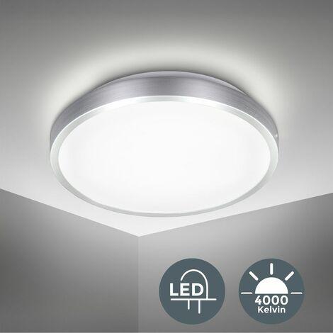 B.K.Licht Lámpara de techo moderna I Ecológico I Fácil montaje I LED Plafón Φ29 cm I Blanco Natural 4000K, 1500LM I Exterior y Interior I Luz de techo