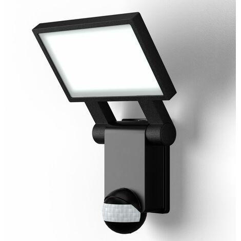 """main image of """"B.K.Licht - Lámpara LED con sensor de movimiento para exteriores, jardín, terraza o patio, con cabeza inclinable, de luz blanca neutral, protección IP44, 20 W y 2000 lúmenes, 4000K, color negro"""""""