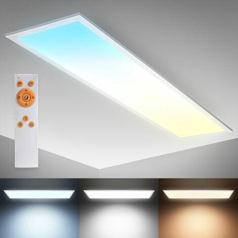 B.K.Licht LED Panel I Luz de techo de 24W I CCT I Temperatura de color controlable I Regulable I Mando a distancia I Lámpara de techo ultraplana I Temporizador I Luz nocturna I Función de memoria