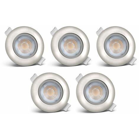 B.K.Licht lot de 5 spots LED à encastrer spots encastrables éclairage plafond lot de 5 | lot de 10