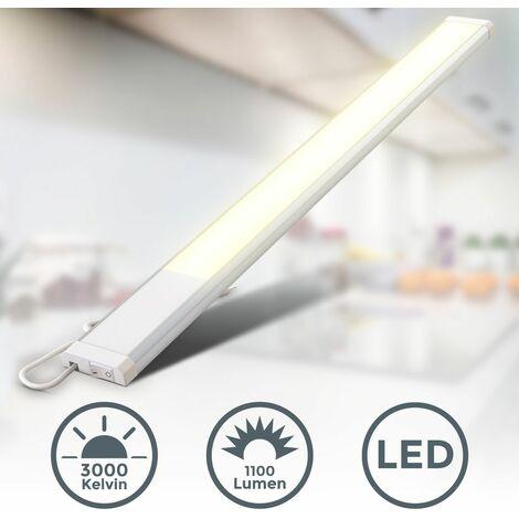 B.K.Licht Réglette LED barre lumineuse éclairage 10W cuisine 230V blanche