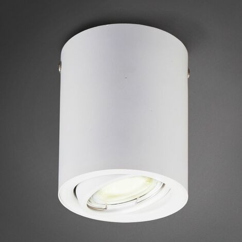 B.K.Licht Spot LED en saillie blanc GU10 spot plafond plafonnier 5W