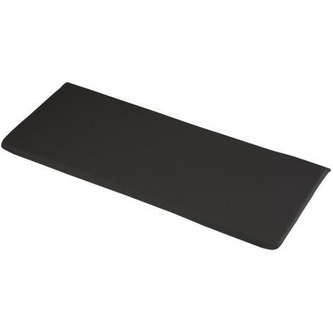 "main image of ""Black 2 Seater Bench Cushions 116 x 46 x 4cm Outdoor Garden Furniture Cushion"""