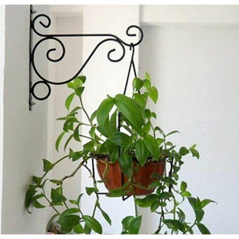 Black 25*20cm Flower Pot Wall Hanging Bracket