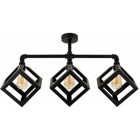 Black 3 Way Ceiling Light Bar - Eschor Cube