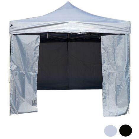 Black 3x3m Heavy Duty Waterproof Pop-Up Gazebo Sides Canopy Garden Market Stall