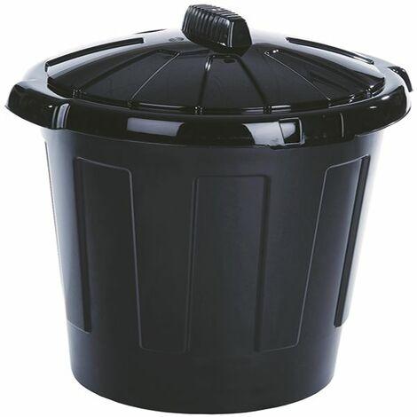 Black 80Ltr Dustbin 379770 - SBY11082