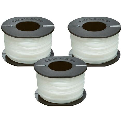 Black and Decker A6171 Pack of 3 x 50m Grass Strimmer Line on Storage Spool
