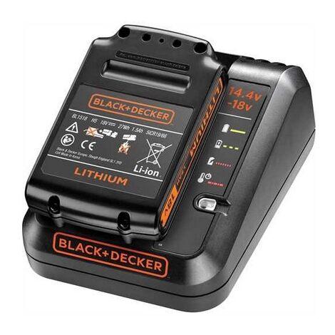 Black and Decker - Cargador rápido con batería de Li-Ion de 18V 1.5Ah - BDC1A15