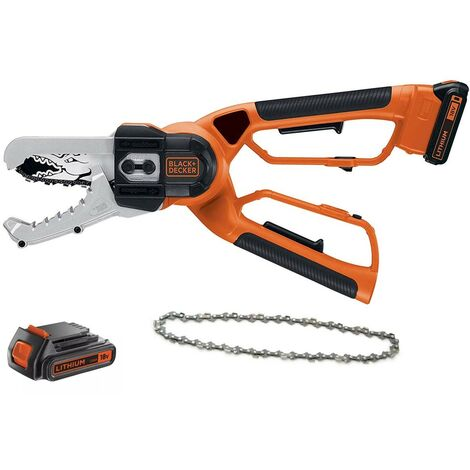 Black and Decker GK1000 Cordless Alligator Chainsaw Lopper Extra Battery + Chain