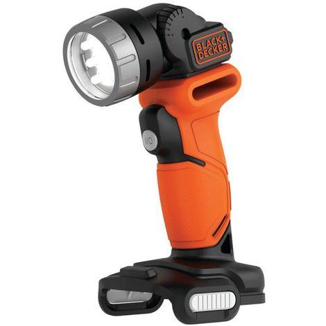 Black and Decker Lampe de poche LED sans fil 12V USB - sans batterie ni chargeur
