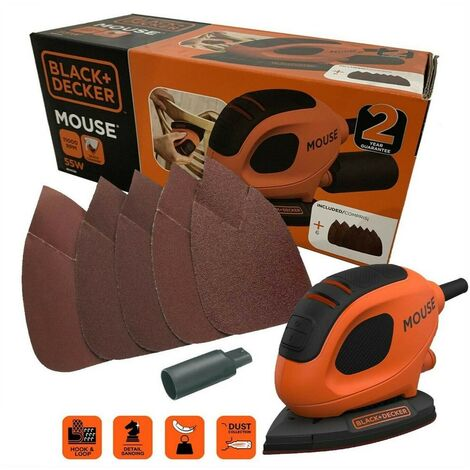 Black and Decker Mouse Detail Palm Sander Ergonomic Grip BEW230-GB KA161