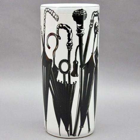 Black And White Ceramic Umbrella Stand