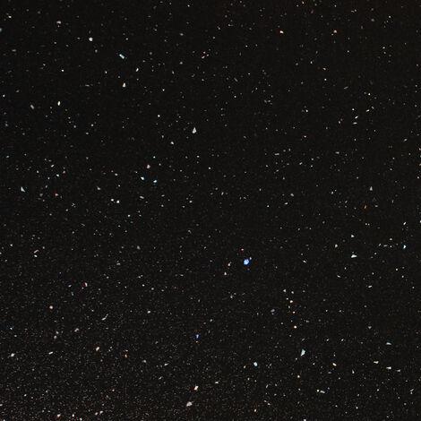 Black Andromeda Sparkle Square Edge Laminate Edging Strip 1500mm X 45mm