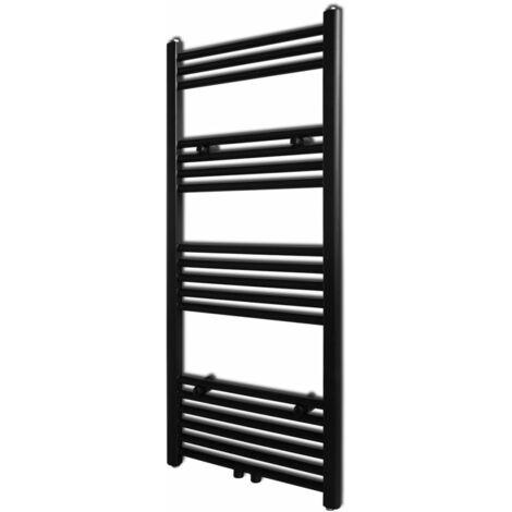 Black Bathroom Central Heating Towel Rail Radiator 500x1160mm - Black