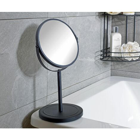 Black Bathroom Mirror Pedestal