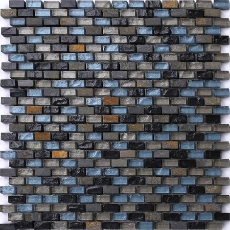 Black Blue Green Brown Stone Glass Mix Bathroom Basin Mosaic Tiles MT0126
