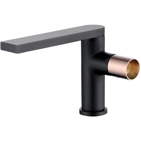Black brass basin mixer tap - Syrma
