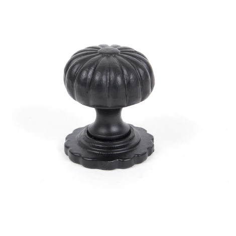 """main image of """"Black Cabinet Knob (with base) - Small"""""""
