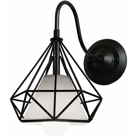 Black Cage Simple Ceiling Light Vintage Industrial Pendant Light Creative Retro Diamond Chandelier for Indoor Decoration E27 Bulb