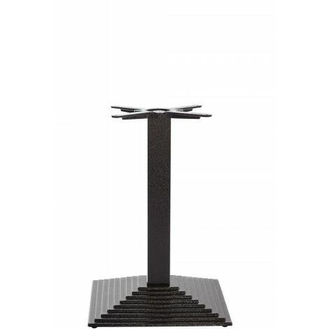 Black Cast Iron Rectangular Step Table Base - Single - Dining height - 720 mm