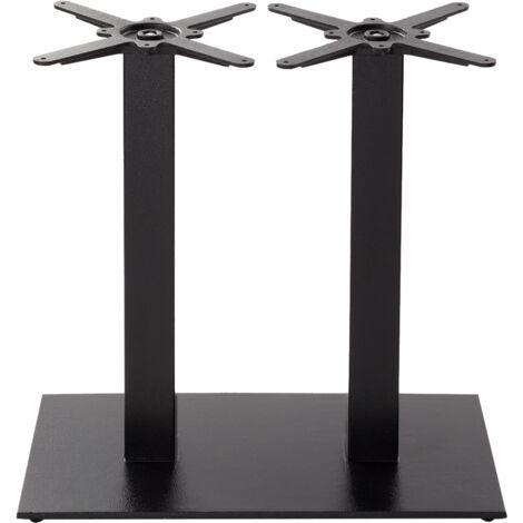 Black Cast Iron Rectangular Table Base - Twin - Height - 730 Mm
