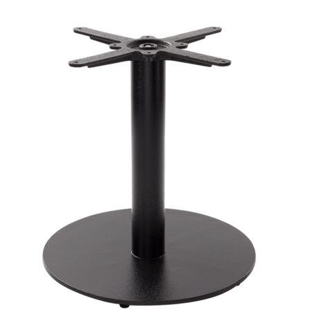 Black cast iron round table base - Medium/Large - Coffee height - 480 mm