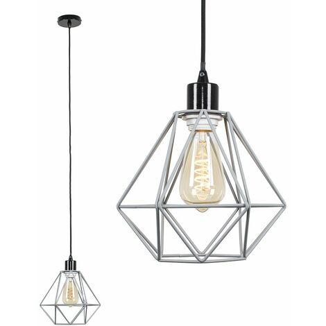 Black Ceiling Flex Lamp Holder + Grey Shade
