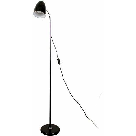Black & Chrome Adjustable Reading Task Study Desk Craft Spotlight Floor Lamp