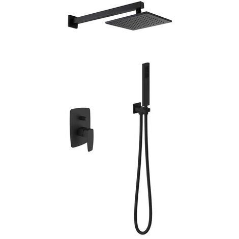 Black concealed shower mixer composition - Reynosa