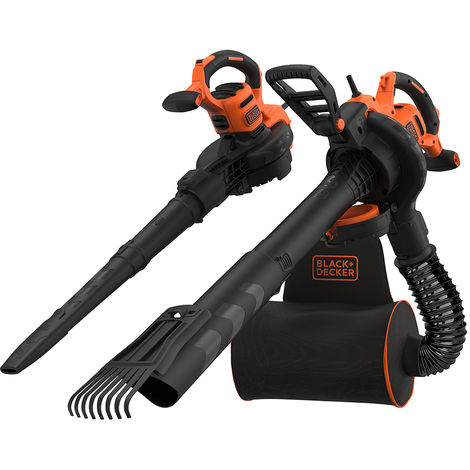 Black & Decker 3000W 3in1 Soffiatore/Aspiratore/Trituratore - BEBLV301-QS