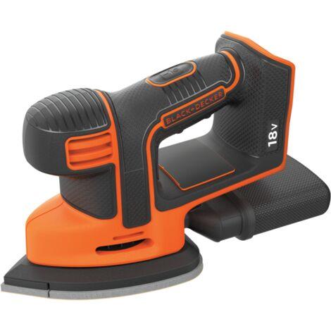BLACK+DECKER Akku-Dreieckschleifer Mouse® BDCDS18N, 18Volt, Deltaschleifer, orange/schwarz, ohne