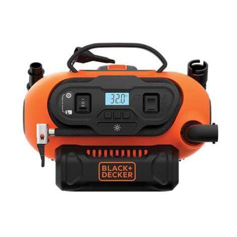 BLACK+DECKER Akku-Kompressor BDCINF18N-QS, 18Volt, 11bar, Luftpumpe, orange/schwarz, ohne Akku und