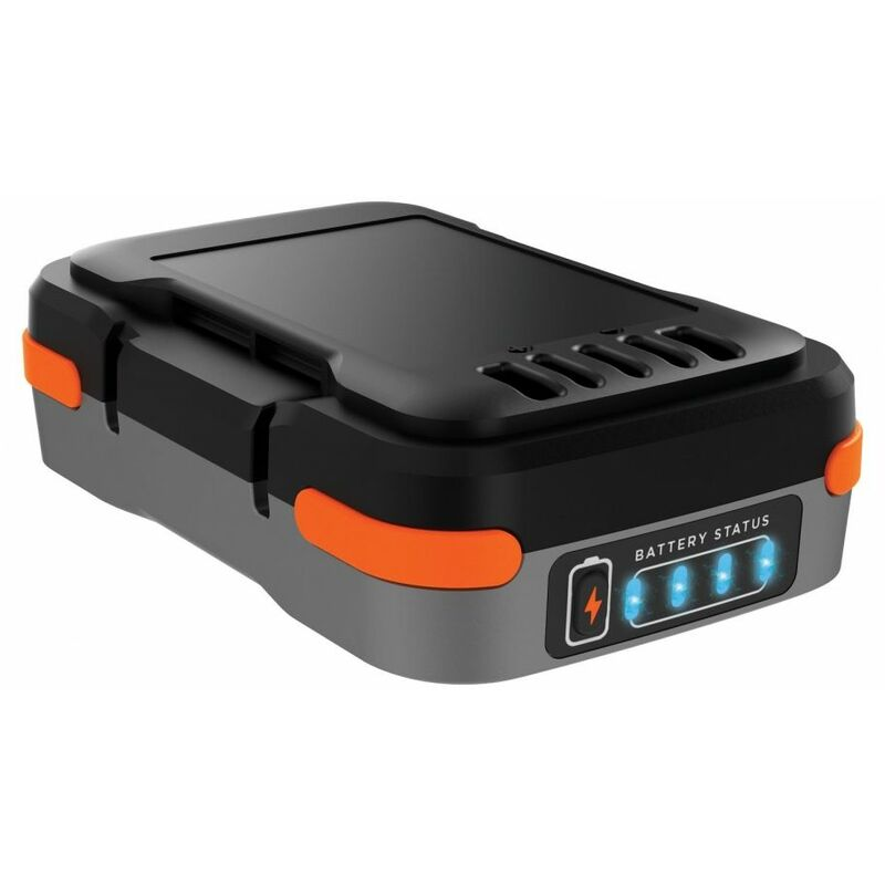 Black&decker - Batterie lithium 12V 1.5 Ah Chargeur de téléphone Black + Decker Sac de rangement + cable usb Voyant de charge