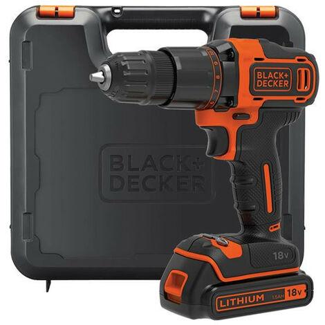 Black & Decker BCD700S1K 2 Gear Hammer Drill 18v with 1 x 1.5Ah Battery