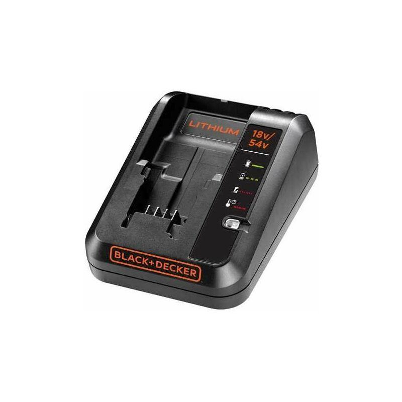 BLACK+DECKER BDC2A-QW Caricabatterie per batterie al Litio 18V dual volt 54V carica veloce da 2a