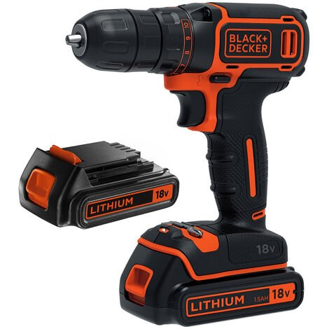 Black & Decker BDCDC18B Perceuse-Visseuse sans fil 2x Batteries 18V 1.5Ah