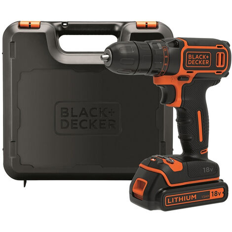 Black & Decker BDCDC18K Perceuse-Visseuse sans fil 18V 1.5Ah Coffret