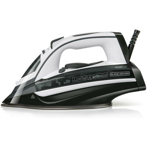 Black+Decker BXIR2802E Plancha de vapor, 2800 W, 370 milliliters, Pl