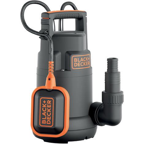 Black+Decker BXUP250PCE Pompe Submersible Eaux Claires (250 W, Portée max. 6000 L/h, Prévalence Max. 6 m)