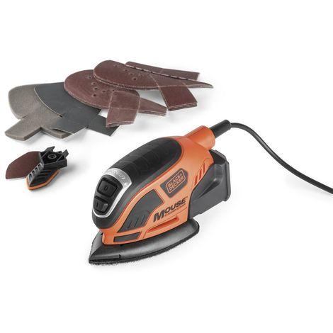 Black & Decker Compact Mouse Schleifer 55 W mit speziellem Staubfiltrationssystem - KA1000-FR