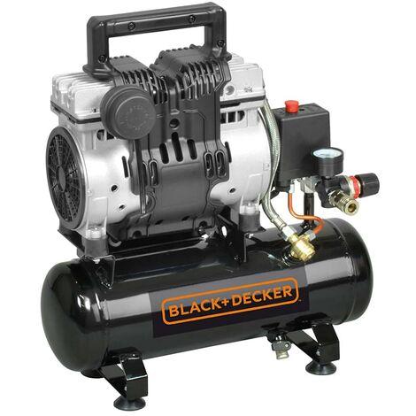 BLACK+DECKER Compresor de aire silencioso 6 L 230 V