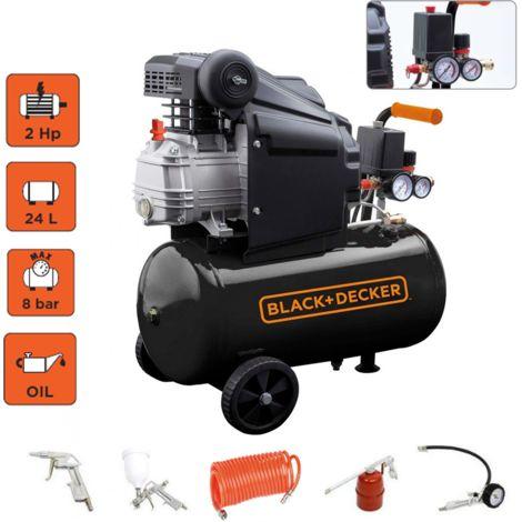 Black-decker compressore 1500W aria compressa 24lt 8 bar Hp.2,0