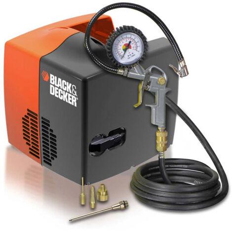 Black & Decker Druckluft Kompressor Cubo ölfrei Reifenfüller Adapter Set 1,1 kW 8 bar 180 l/min
