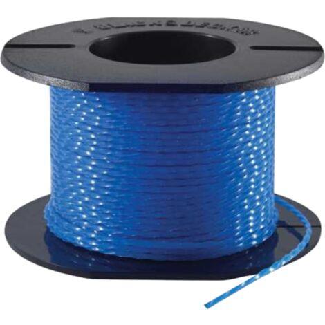 BLACK+DECKER Ersatzfaden Reflex Plus A6440-XJ, Mäh-Faden, blau, 25 Meter, Ø 1,65mm
