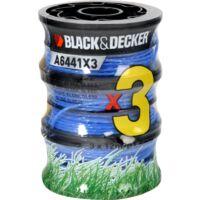 BLACK+DECKER Fadenspule Reflex+ A6441x3-XJ, Mäh-Faden, 2x 6 Meter, 2+1 Vorteilspack