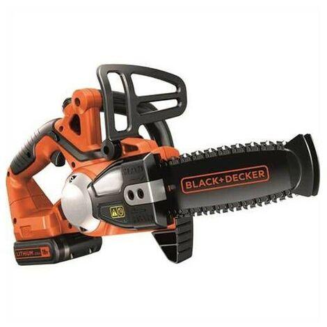 Black & Decker GKC1820L20 18v Li-Ion Cordless Chainsaw 20cm Bar 1x 2.0Ah Battery