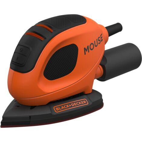 BLACK+DECKER Kompakt-Mouse BEW230-QS, Deltaschleifer, orange/schwarz, 55 Watt